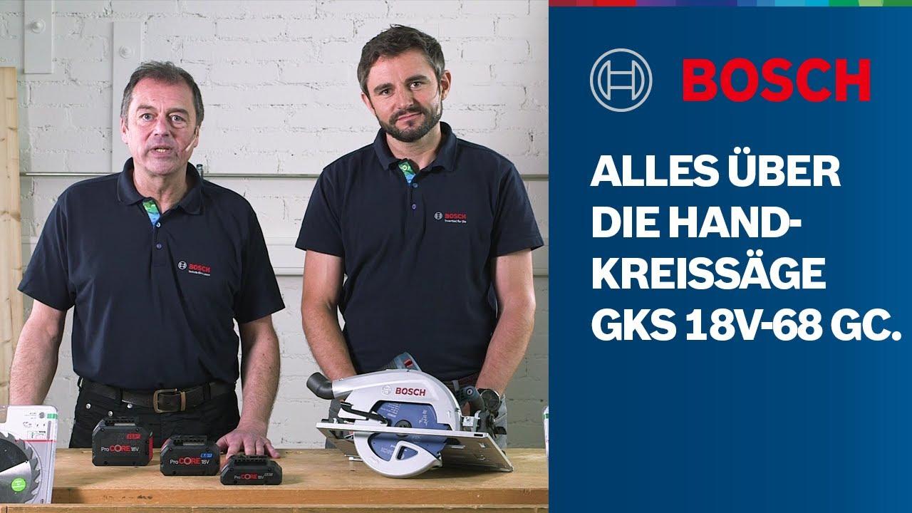Alles über die Bosch Professional GKS 18V-68 GC BITURBO Brushless Handkreissäge