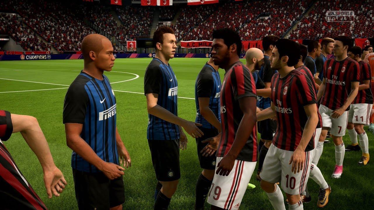Fifa 18 ac milan vs inter milan full gameplay ps4 for Fifa 17 milan