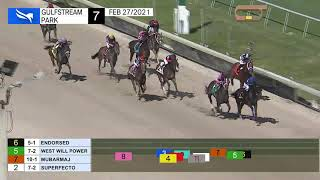Gulfstream Park February 27, 2021 Race 7