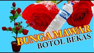 Cara buat bunga dari botol plastik bekas # how to make flower from mineral bottols #part 1