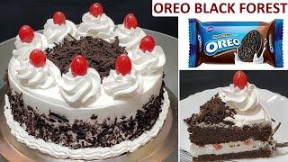 Oreo Black Forest Cake Recipe  Eggless Black Forest Cake  No Oven No Egg easy black forest Cake