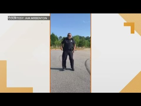 Police officer's dance video of the 'Git Up Challenge' goes