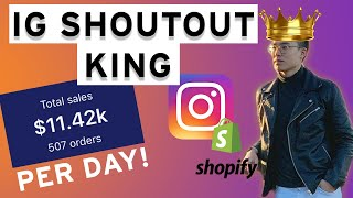 $11,429/Day using Instagram Influencer Shoutouts - Shopify Dropshipping (Method REVEALED)