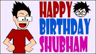 Happy Birthday Video For Best Friend Shubham ( Stop motion Animation Inkscape) | Birthday wishes