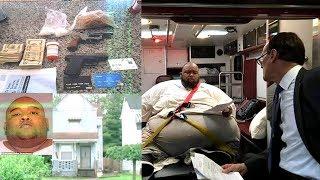 Ohio 600lb Drug Dealer Too Big To Walk In Court Sentenced In Back Of Ambulance.