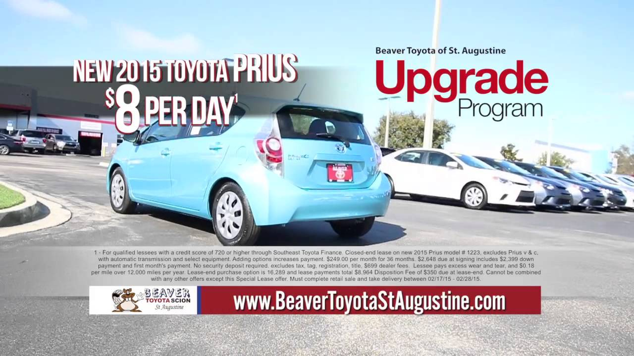 Nice Upgrade To A New 2015 Prius $8/day | Beaver Toyota St. Augustine | February  2015