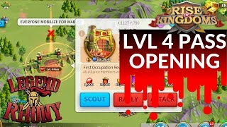 LVL 4 PASS OPENING- LIVE IN LOST KINGDOM 102 - Rise of Kingdoms