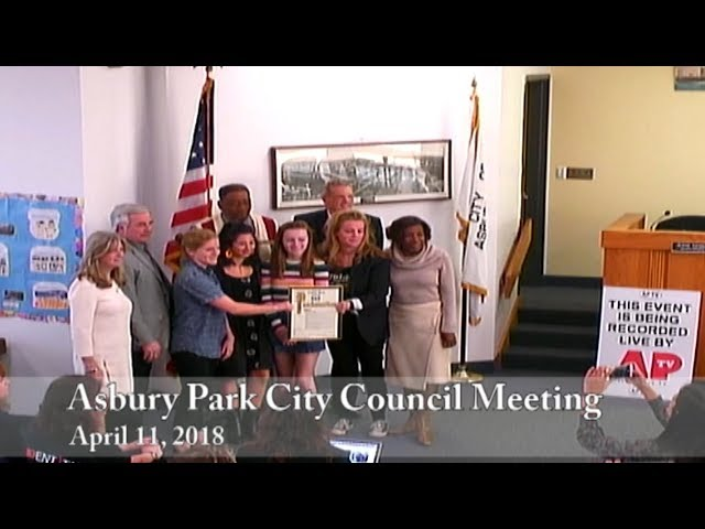Asbury Park City Council Meeting - April 11, 2018