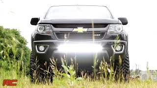 2015 chevrolet colorado 30 inch led light bar bumper mount by rough country
