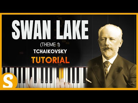 How to play Theme from Swan Lake  Tchaikovsky  Synthesia Piano Tutorial HD