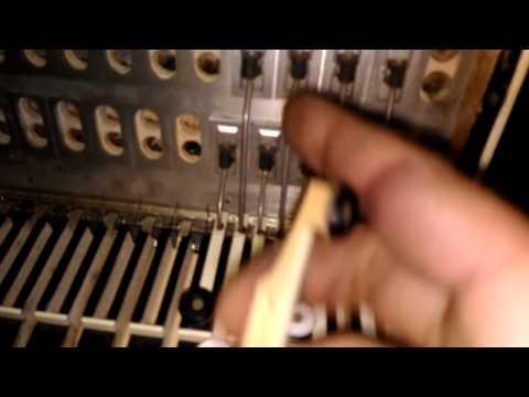 """Ремонт баяна """"РУБИН-6 правая клавиатура(механика) ЧАСТЬ (1)"""
