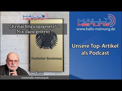 """Podcast - """"Ermächtigungsgesetz - Nix dazugelernt"""" von Uwe Kranz"""