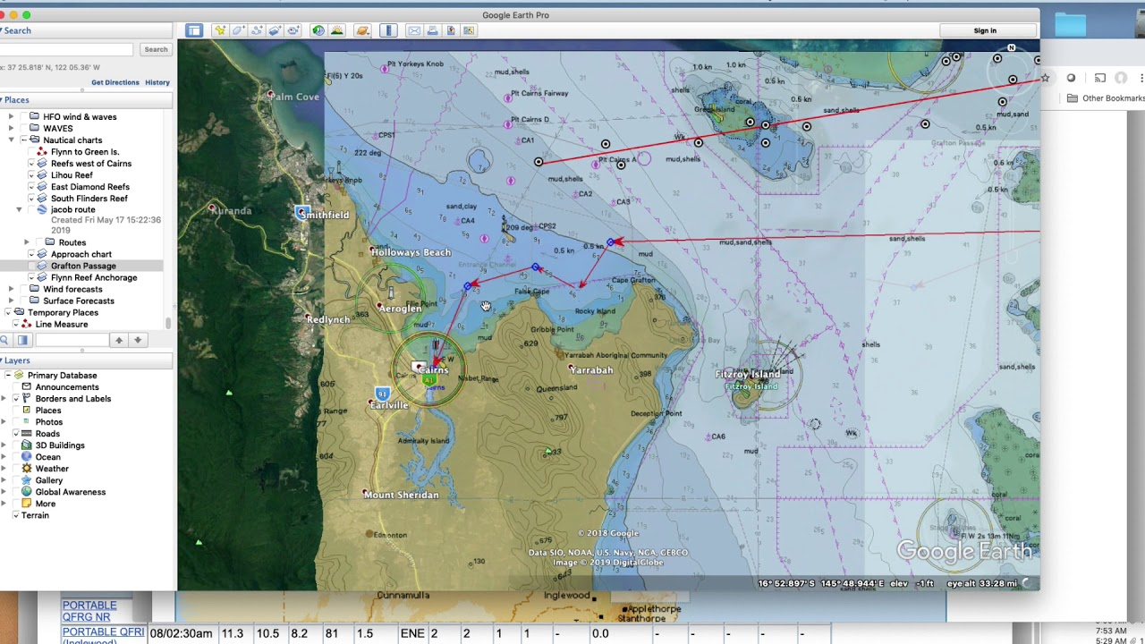 17z Jun 7—On the Entrance Channel to Cairns