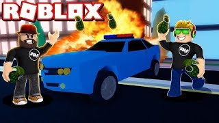 DESTROYING EVERYTHING WITH GRENADES in ROBLOX JAILBREAK!!! / BLOX4FUN