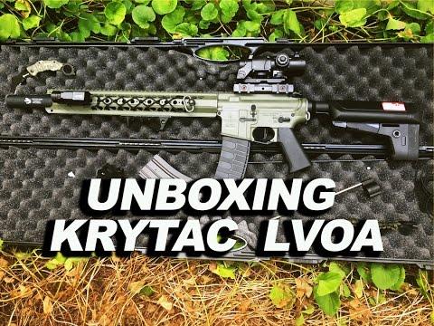UNBOXING KRYTAC LVOA -  Uma das melhores AEGs do Mundo!