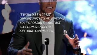 شاهد.. The rock يعتزم الترشح لرئاسة أمريكا 2020