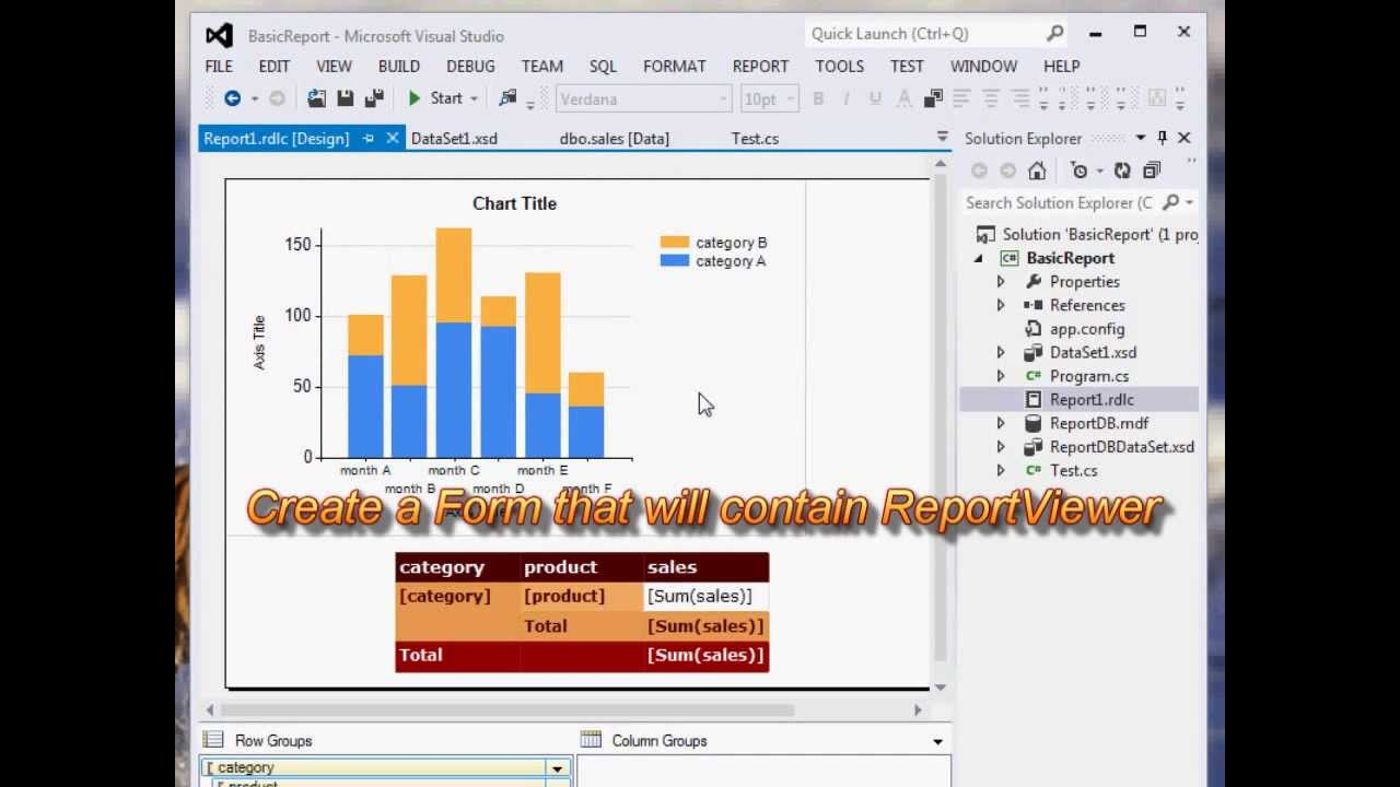 How to Create a Report with a Parameter using ReportViewer in Visual Studio