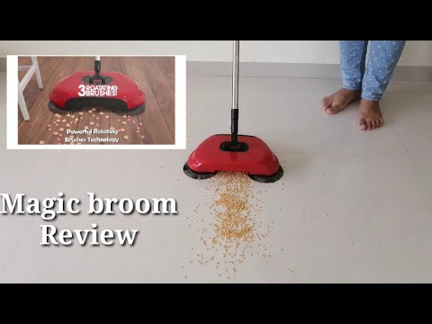 Spinning Broom Review/sweeper Review|amazon Magic Broom|spinning Broom Review In Hindi