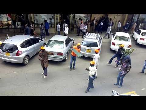 NASA supporters celebrating infront of supreme court of kenya