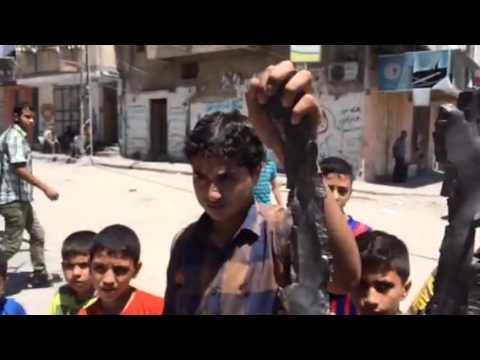 Gaza: Paul Mason at site of damaged mosque | Channel 4 News
