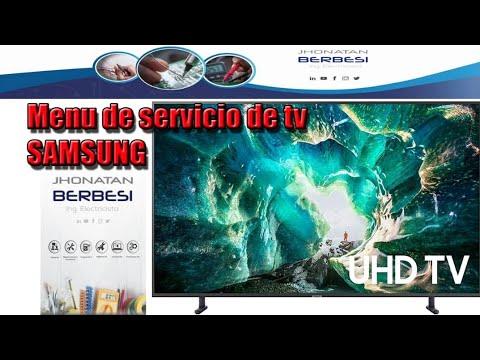 Menú De Servicio De TV Samsung