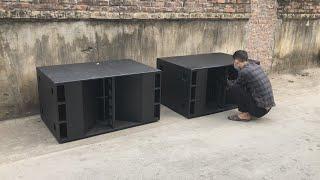 Wow ... great speaker cabinet design !  Professional dual speaker box