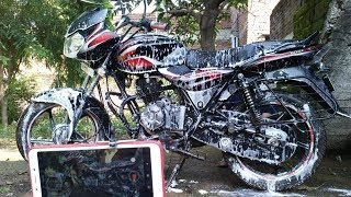 Bike Cleaning and Faded Paint Restoration at home | Hindi | DIY:  KNOW YOUR CAR