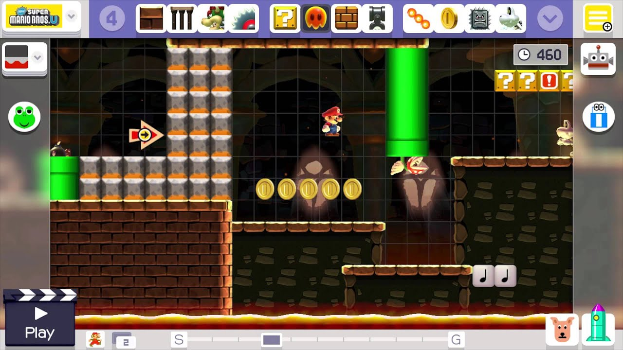 Super mario maker editor music castle new super mario for View maker