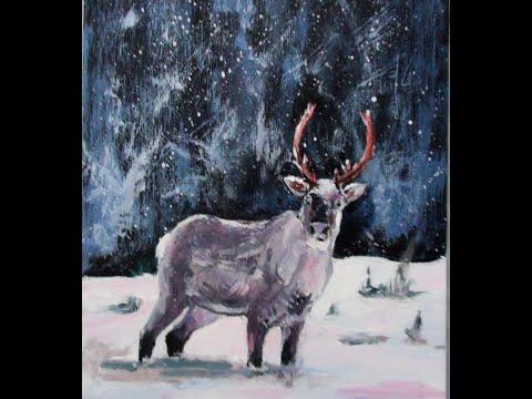 Malen mit Acryl: Rentier (Teil 1/2)