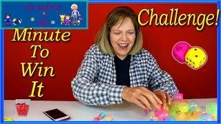 Minute To Win It Challenge   Grandma and Me
