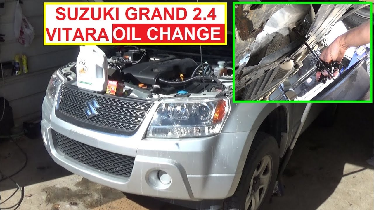 suzuki grand vitara oil change 2 4 engine  how to change