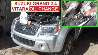 Suzuki Grand Vitara Oil Change  2.4 engine.  How to change Engine Oil Suzuki Escudo(Suzuki Grand Vitara Oil Change 2.4 engine How to change Engine Oil. Suzuki Escudo In this video we are showing you how to change the oil on Suzuki Grand ..., 2016-02-28T17:46:24.000Z)