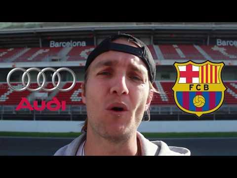 SUBIMOS a los AUDI de los jugadores del BARCELONA! | ASÍ conducimos un COCHE de LUJO