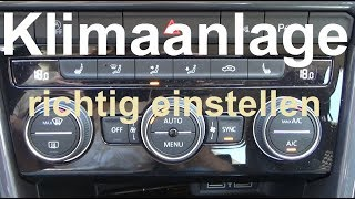 Auto Klimaanlage richtig einstellen Klimaanlage im Auto richtig nutzen Klimaanlage einstellen