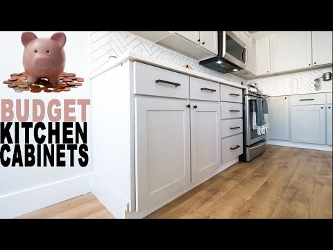 How to build Kitchen Cabinets on a budget - YouTube
