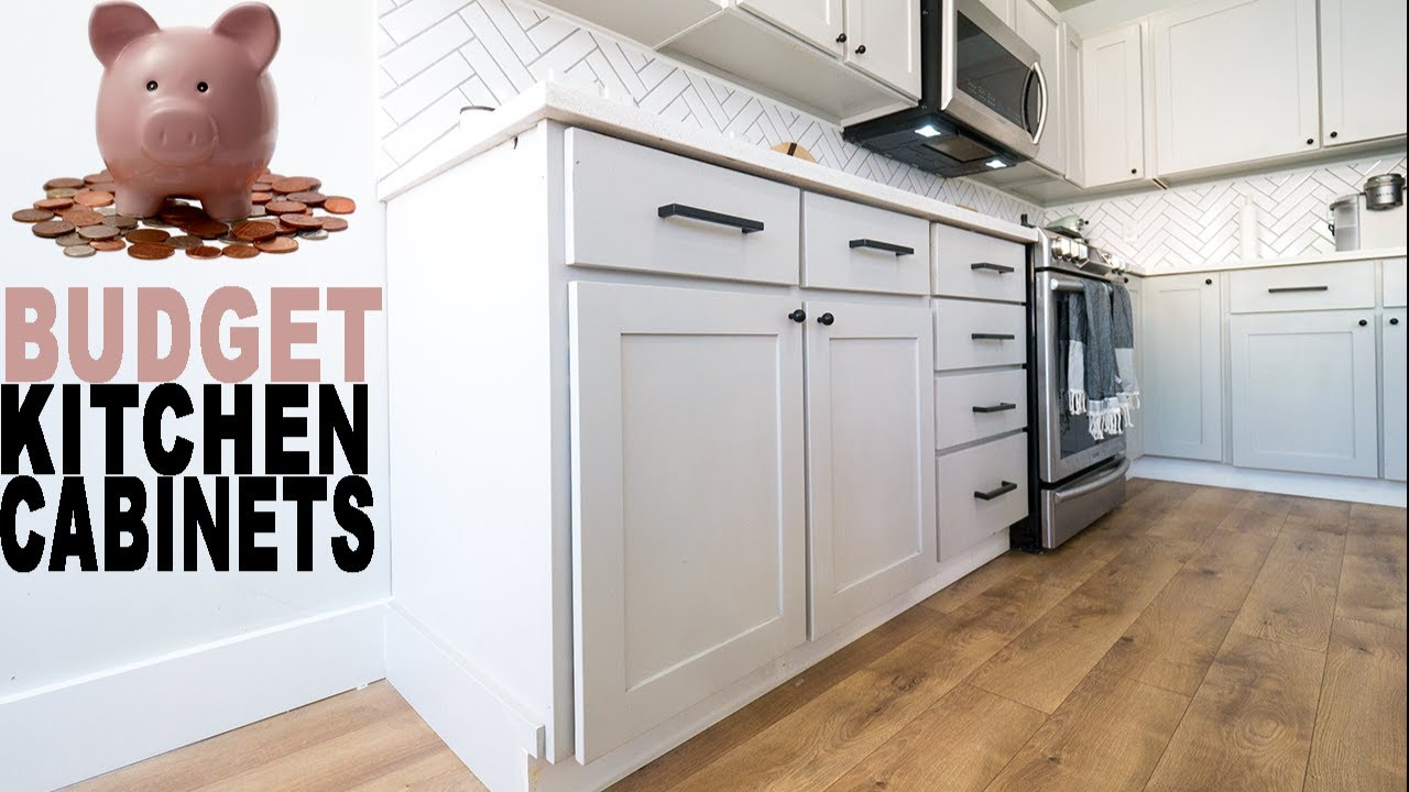 Diy Budget Kitchen Cabinets Youtube