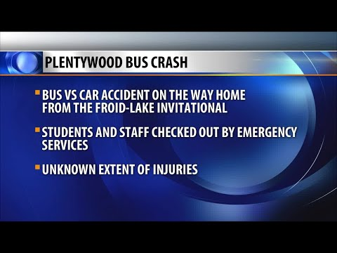 Plentywood High School volleyball team involved in bus crash