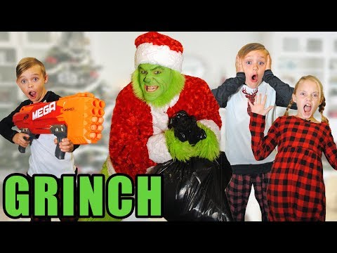 Grinch Vs Fun Squad!  Battle to Save Christmas From The Sneaky Grinch?