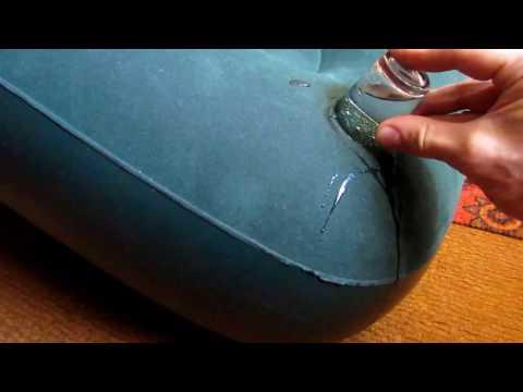 Ремонт надувного матраса Жидкой латкой
