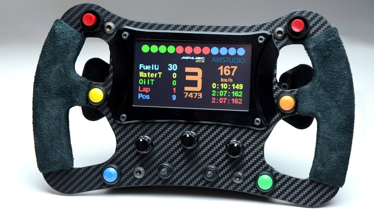 F1 Steering Wheel KIT by 3DRap - Thrustmaster Logitech and OSW adapters