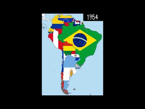 South America: Timeline of National Flags - Part 1