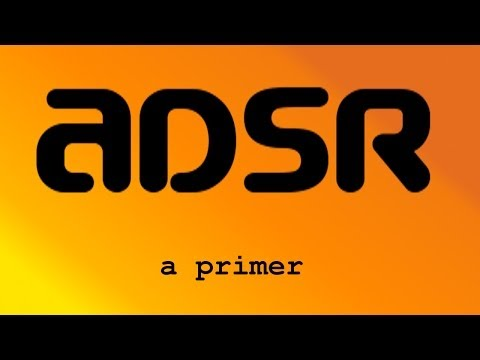 ADSR - attack, decay, sustain, release - the sound envelope