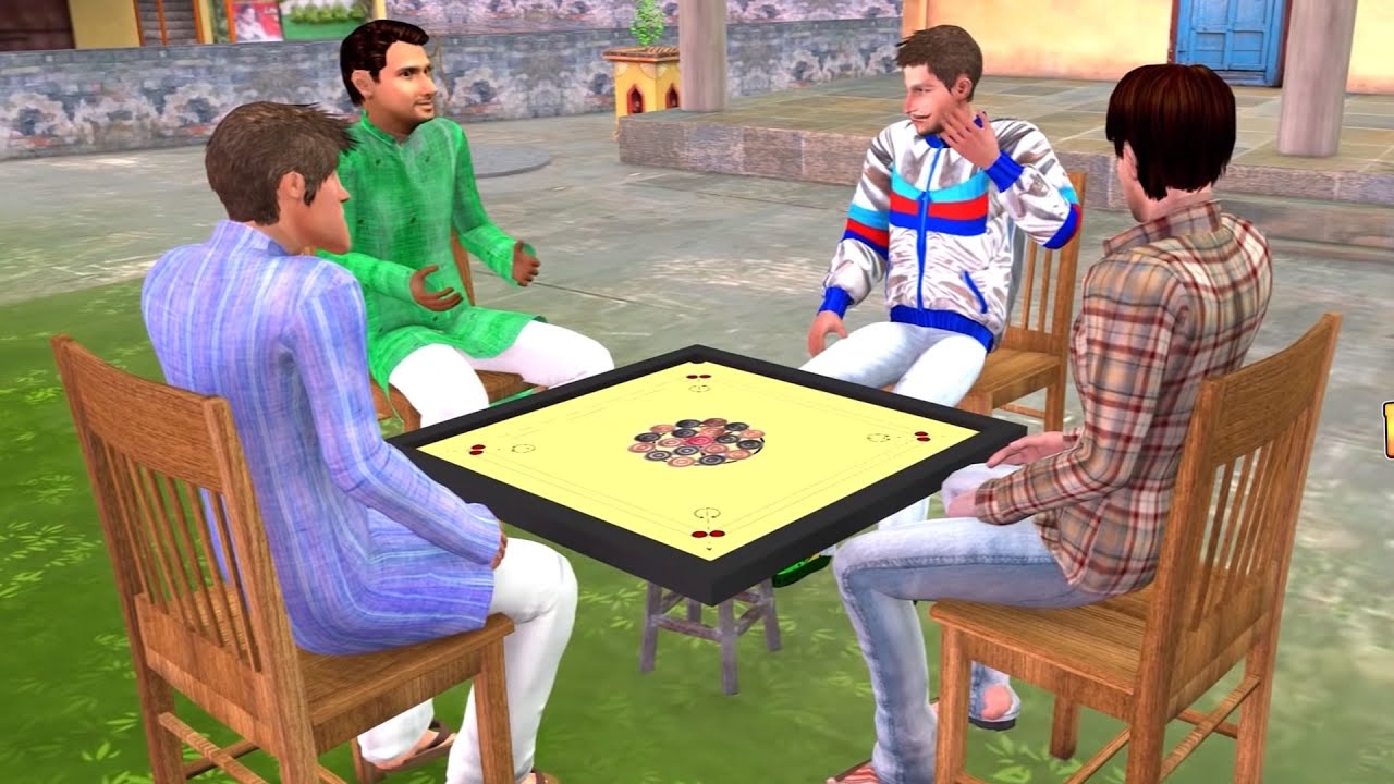 जादुई कैरम गेम MAGICAL CARROM BOARD Game Funny Comedy Story हिंदी कहानिय Hindi Kahaniya Comedy Video