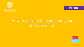How to activate the code into your child's profile?