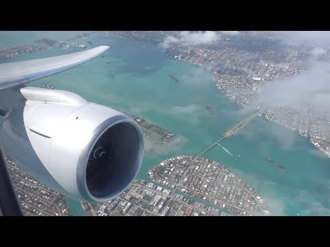 American Airlines Boeing 777-223(ER) / Miami To Dallas Ft. Worth / 4K Video !