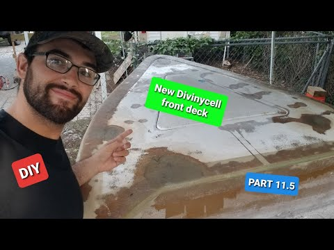 DIY FIBERGLASS BOAT BUILD (Restoting old boat deck with Divinycell) Part 11.5