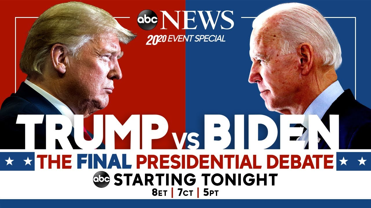 Final 2020 Presidential Debate Watch Live Pres Trump Joe Biden Go Head To Head Abc News Youtube