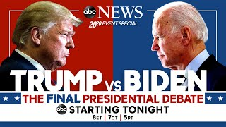 Final 2020 Presidential Debate: WATCH LIVE Pres. Trump, Joe Biden go head-to-head | ABC News on FREECABLE TV