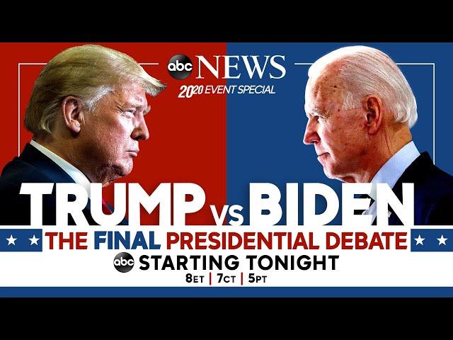Final 2020 Presidential Debate: WATCH LIVE Pres. Trump, Joe Biden go head-to-head   ABC News