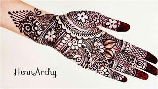 Diwali Special Henna Design😃||Full hand Design||By HennArchy